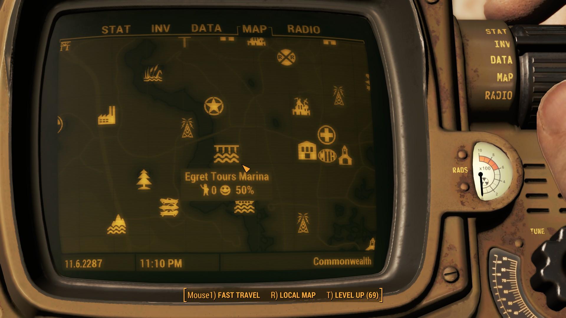 Fallout 4 Egret Tours Marina Map Location