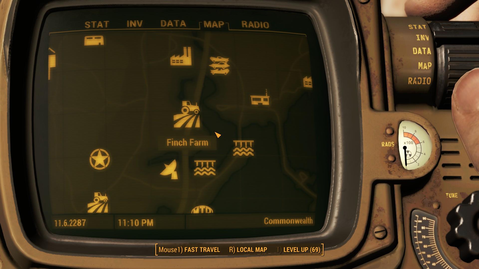 Fallout 4 Finch Farm Location Map