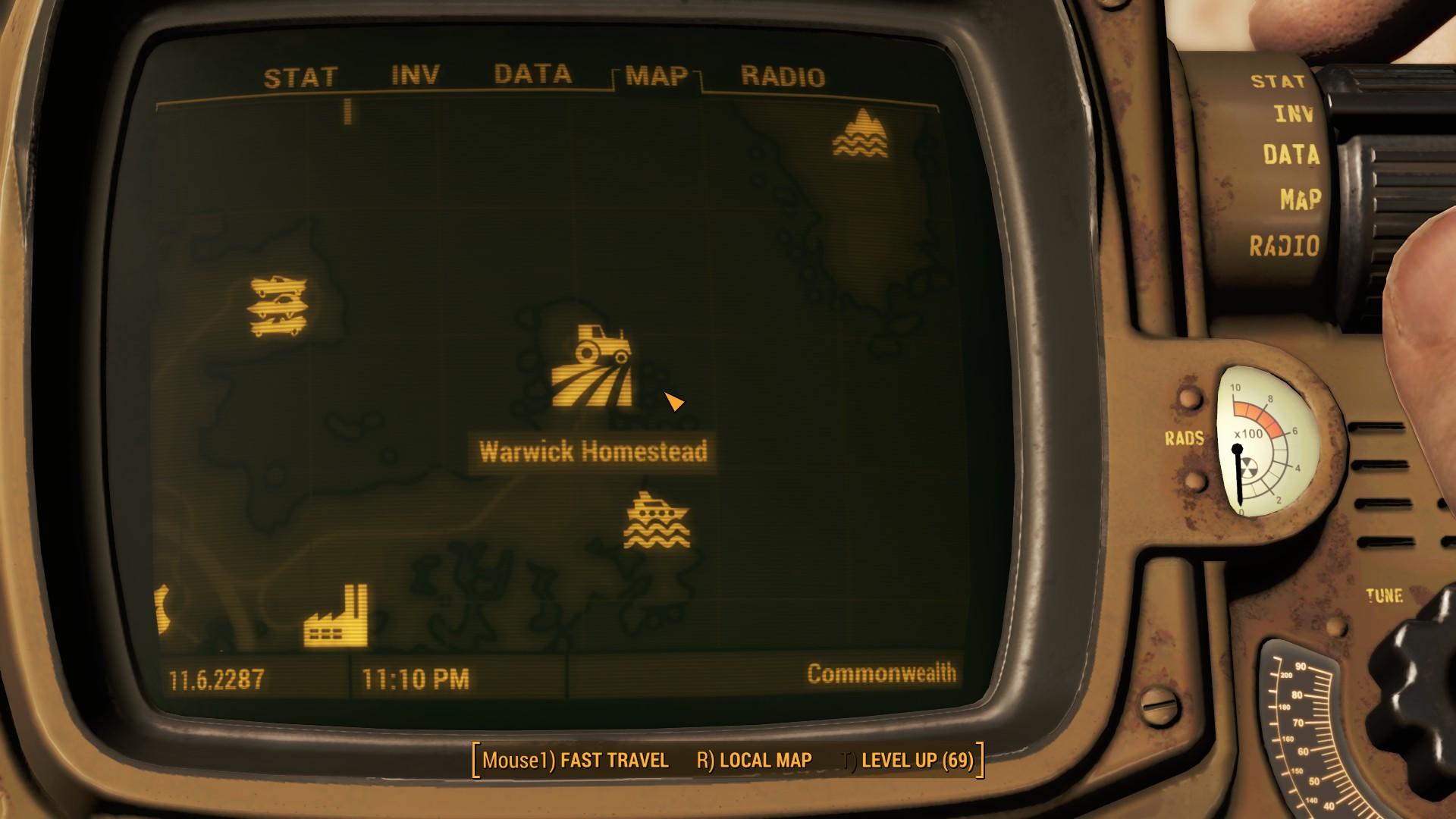 Fallout 4 Warwick Homestead Location Map