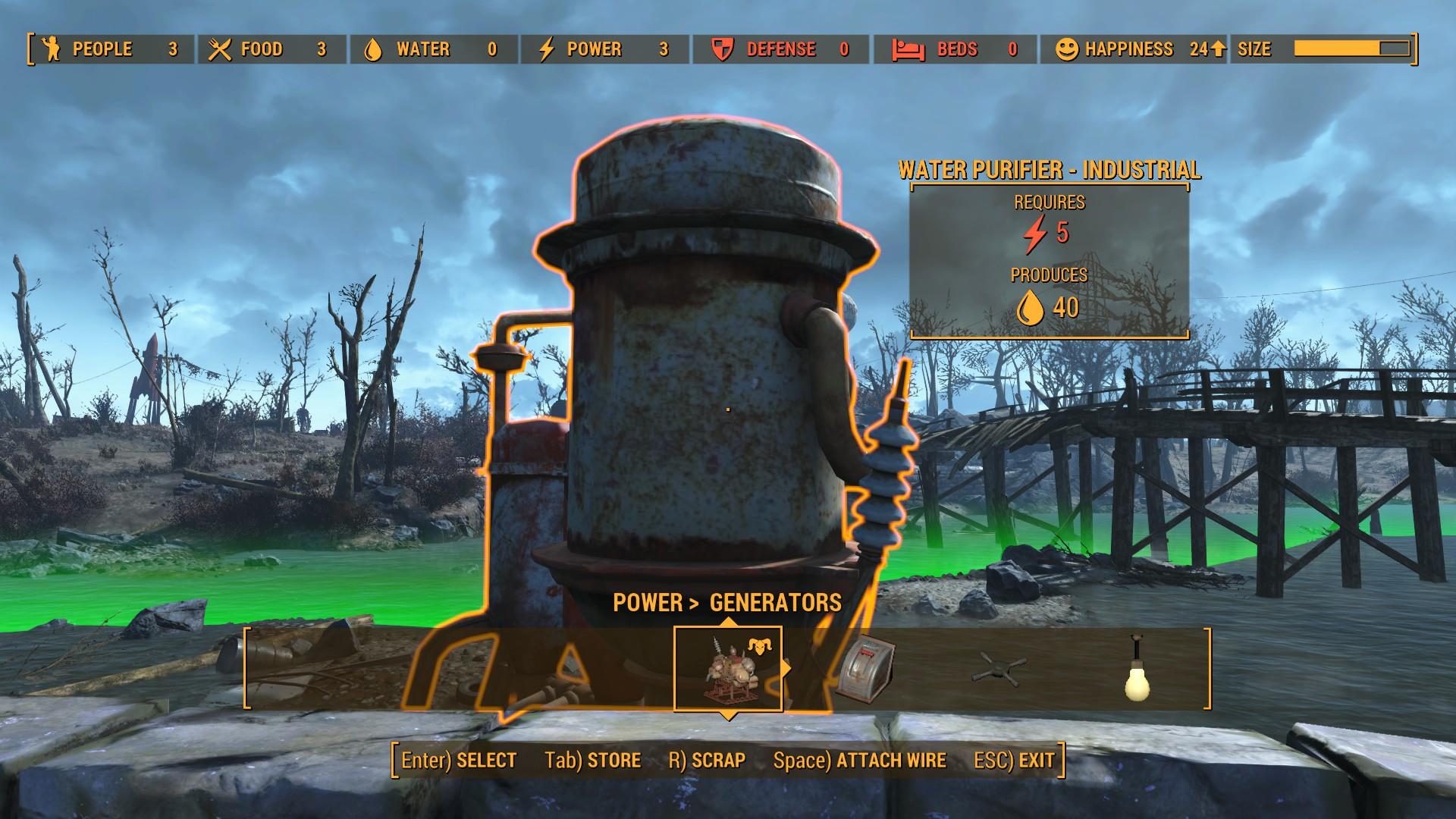 Fallout 4 Water purifier NO POWER