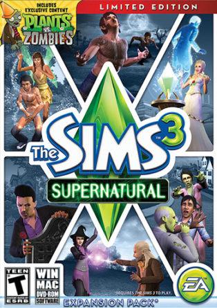 Sims 3 Supernatural Box Art