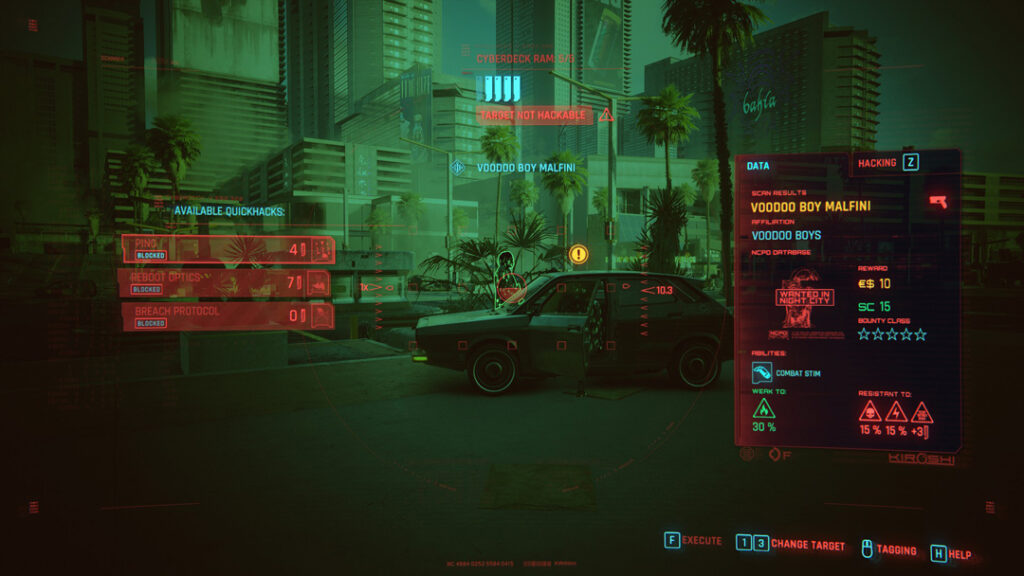 Cyberpunk 2077 Combat Strategy Status Effects And Damage Types Enemy Quickscan Information