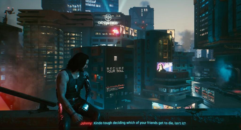 Cyberpunk 2077 Johnny Silverhand Guide Don't Fear The Reaper Secret Ending