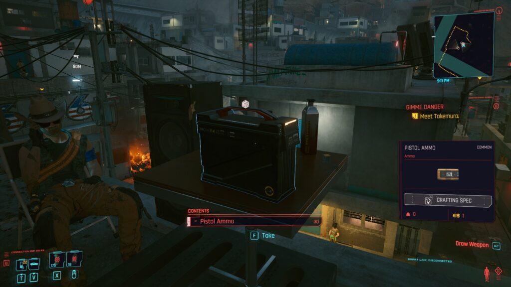 Cyberpunk 2077 Pistol Ammo Box Screenshot