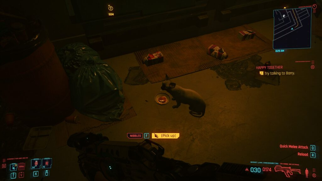 Cyberpunk 2077 Feeding the Cat 3