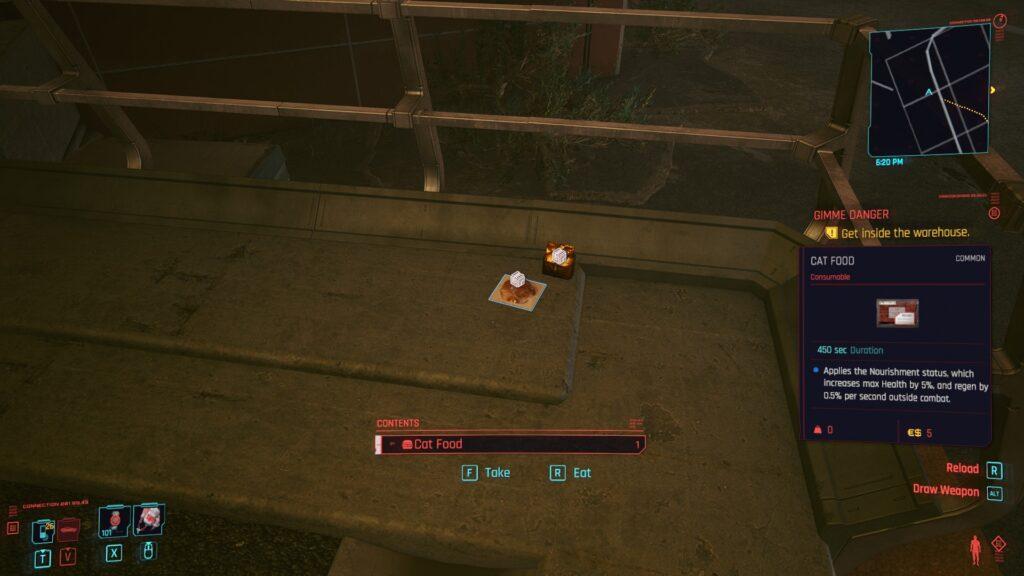 Cyberpunk 2077 Where To Find Cat food in Pacifica 4