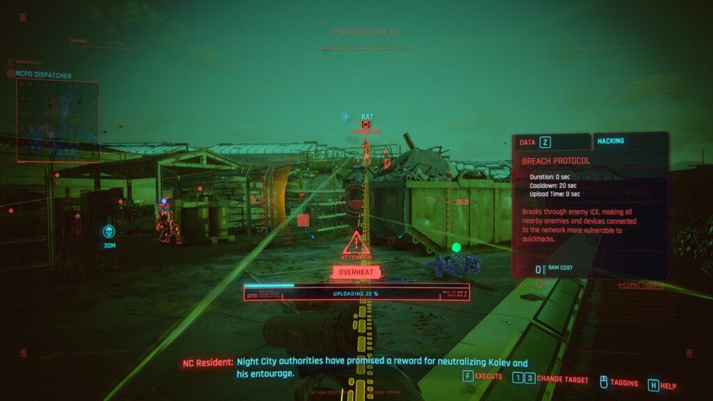 Cyberpunk 2077 Netrunner Overheat
