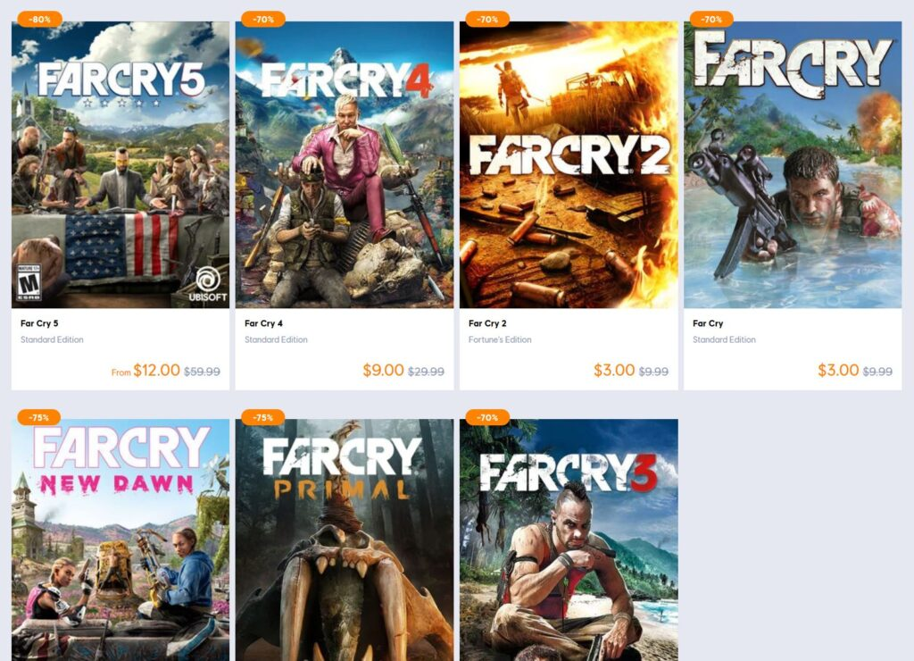 Black Friday Sale On All Far Cry Games!