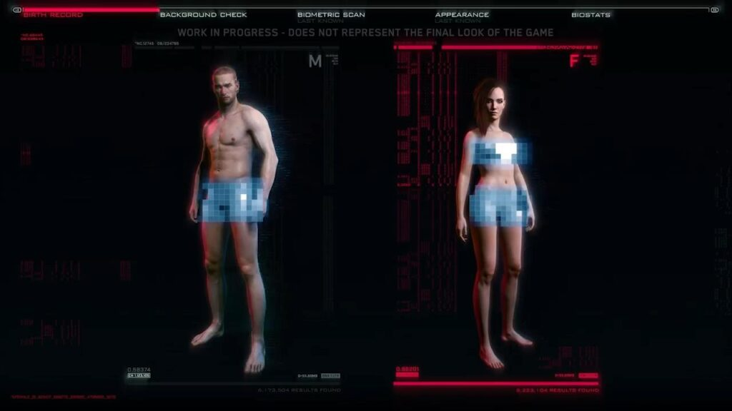 Customizable Genitals And What They Tell Us About Cyberpunk 2077