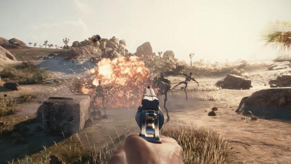 Cyberpunk 2077 — Official Gameplay Trailer combat killing robots