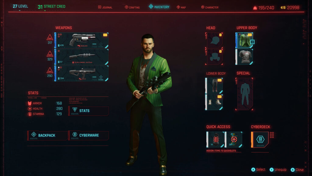 Cyberpunk 2077 Character Interface Ultimate Character Guide
