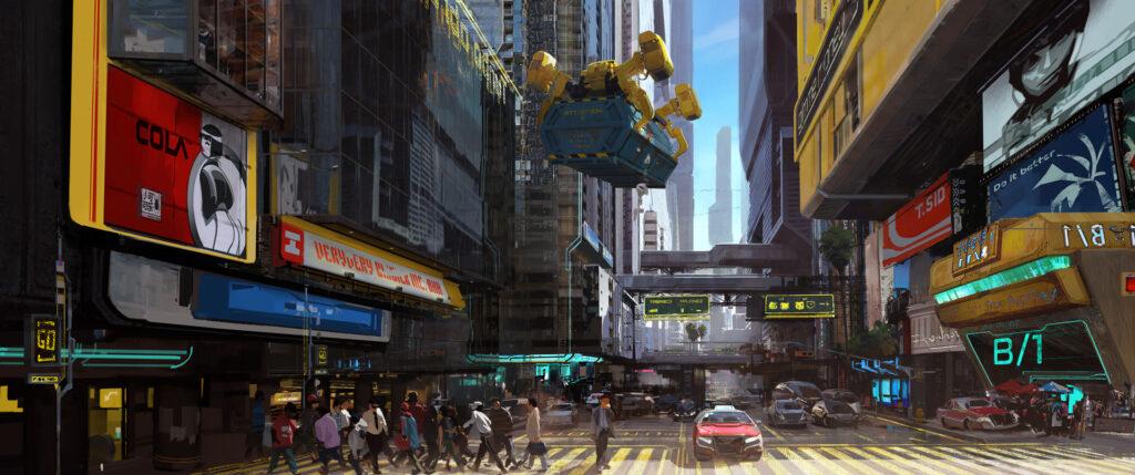 Cyberpunk 2077 City Center Downtown