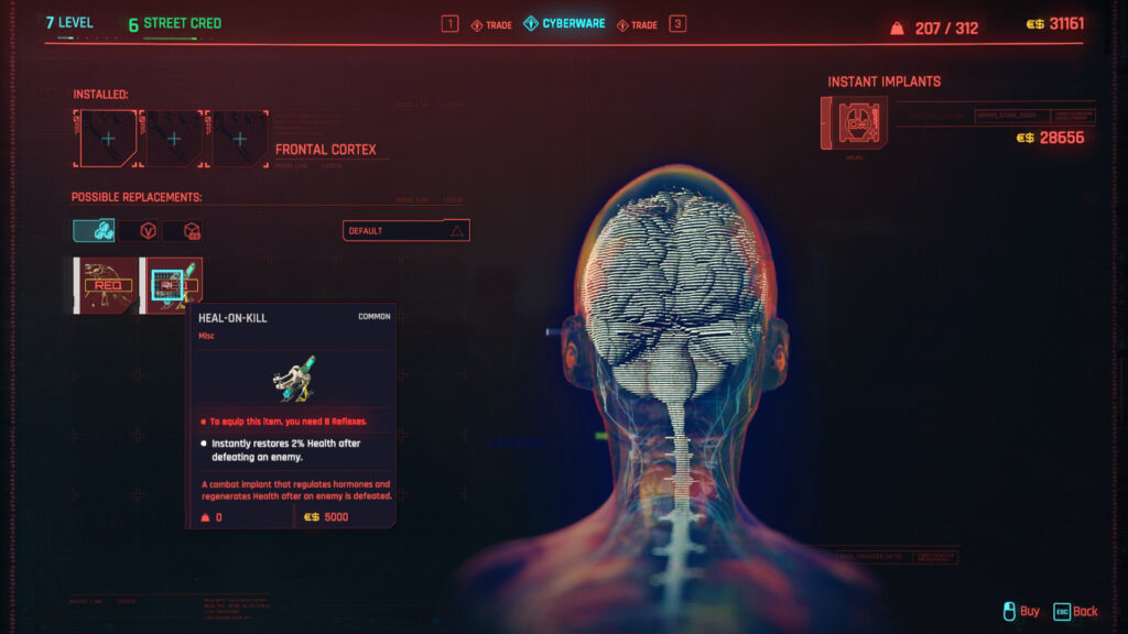 Cyberpunk 2077 Cyberware Implants Guide Frontal Cortex