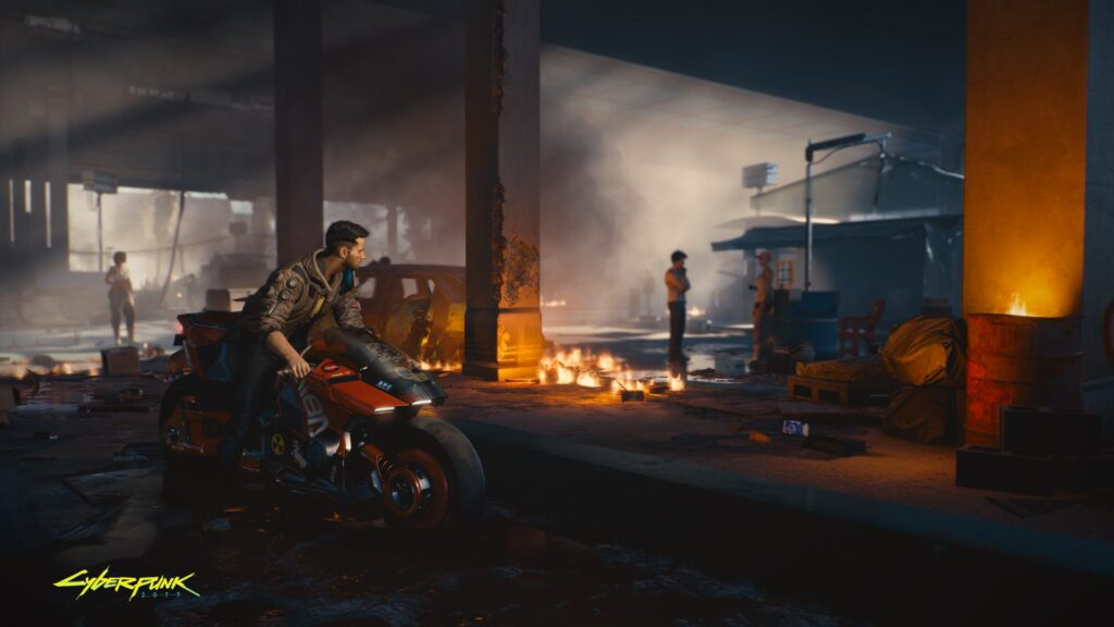 Cyberpunk 2077 Driving Through Pacifica On A Motorbike