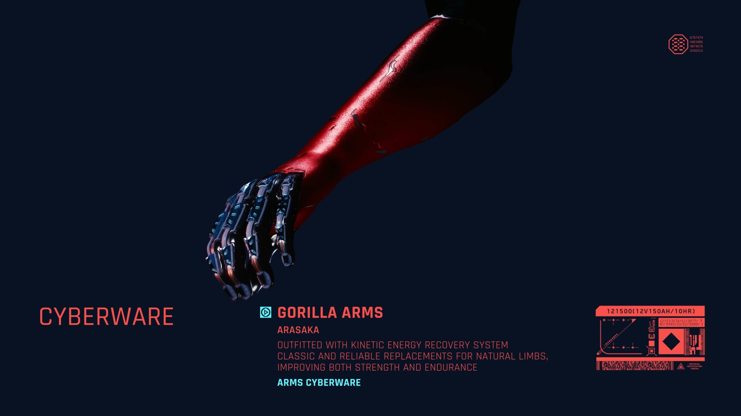 Cyberpunk 2077 Gorilla Arms Melee Cyberware