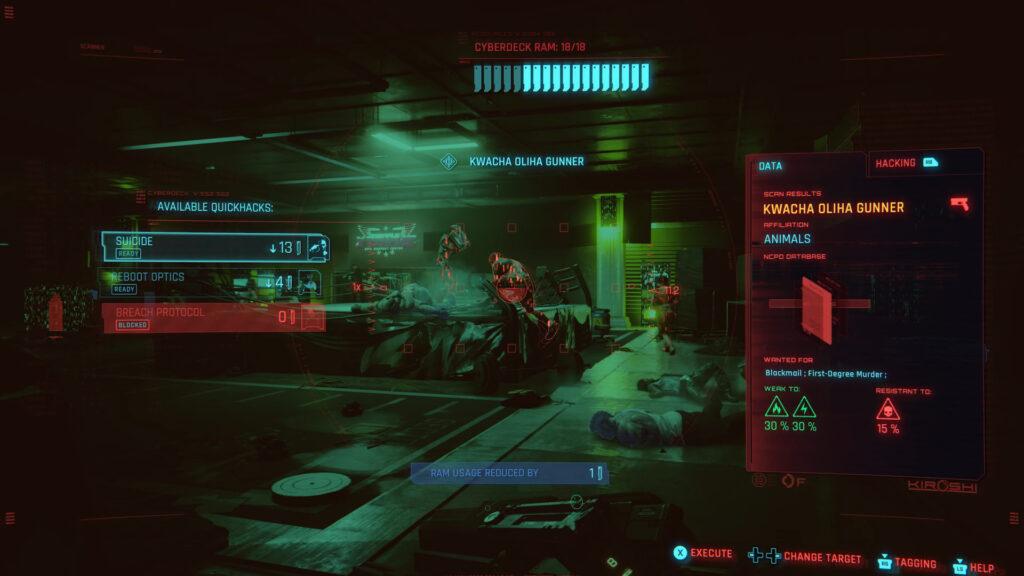 Cyberpunk 2077 Hacking Guide Target Hacking Skill