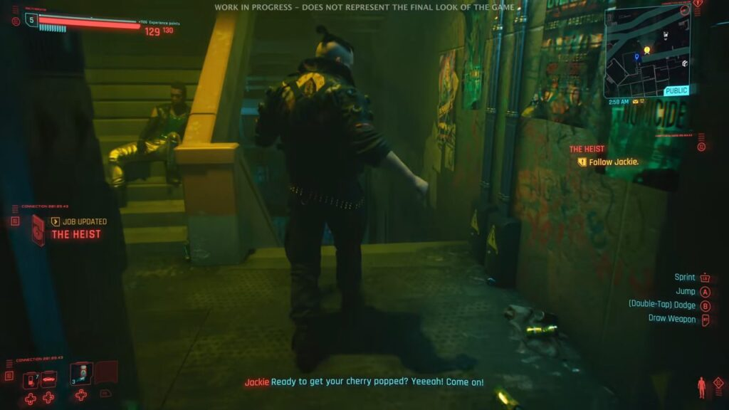 Cyberpunk 2077 Jackie Walking Into Afterlife Cherry Popped