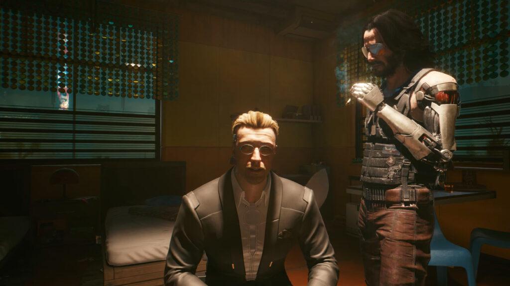 Cyberpunk 2077 Johnny Silverhand Guide Battling Over V's Body