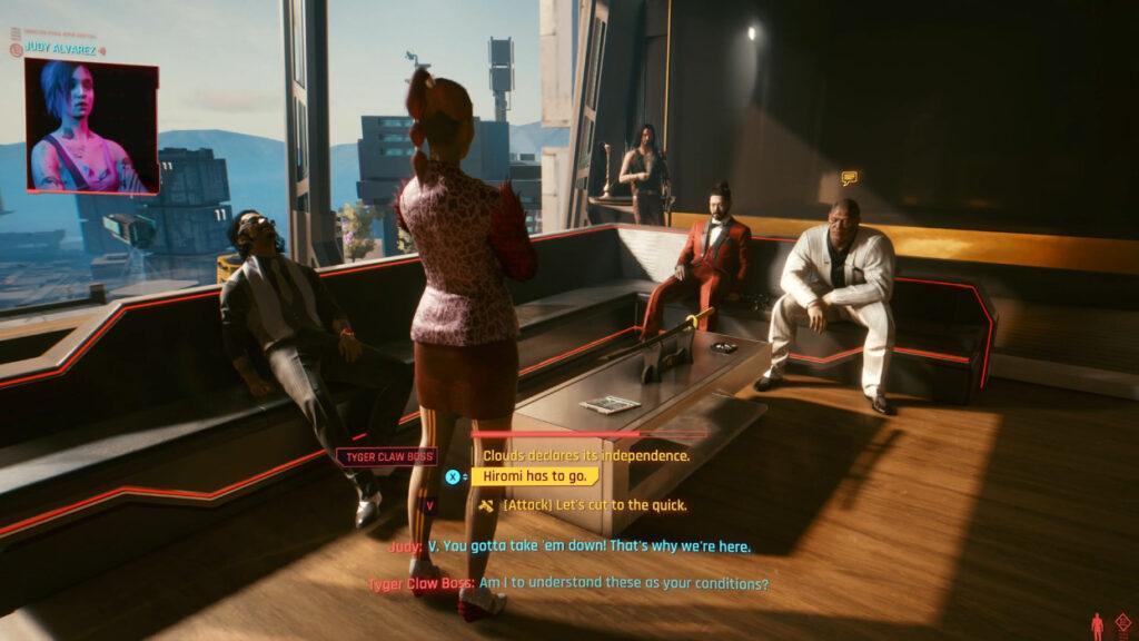 Cyberpunk 2077 Judy Contact As V Meets Tyger Claw Boss