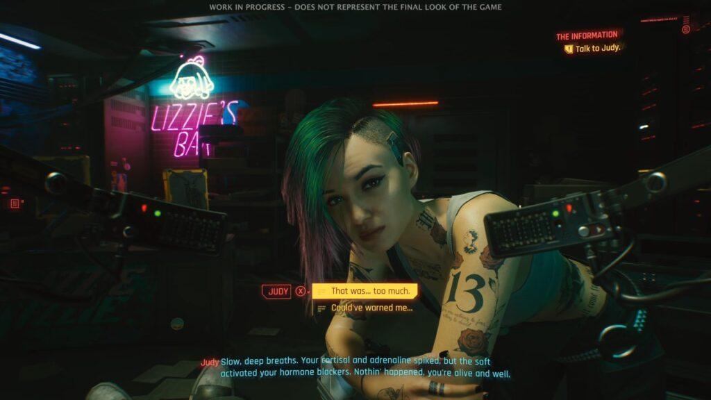 Cyberpunk 2077 Judy Lizzie's Braindance Tutorial