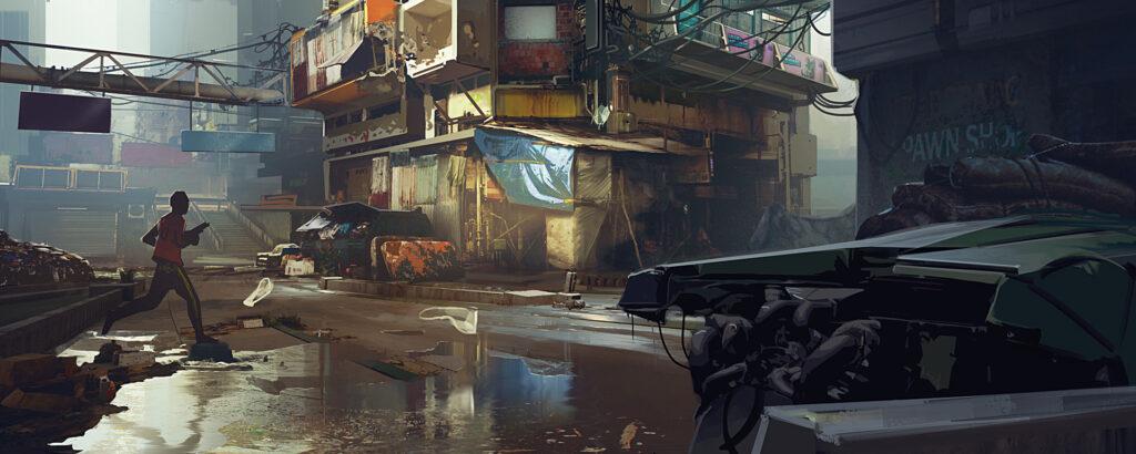 Cyberpunk 2077 Pacifica Streets Slums