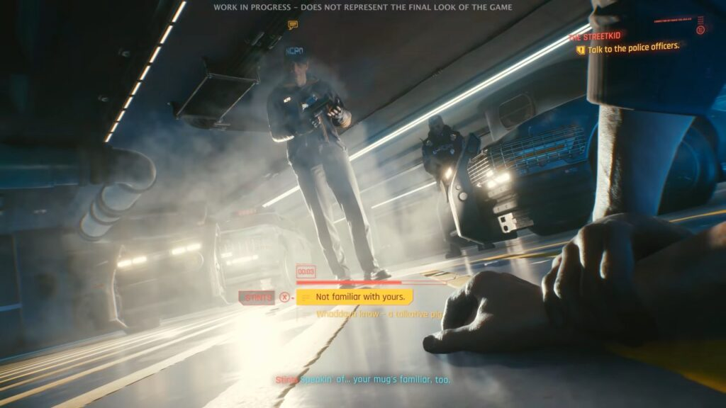 Cyberpunk 2077 Police Car Theft Scene With Jackie Dialogue