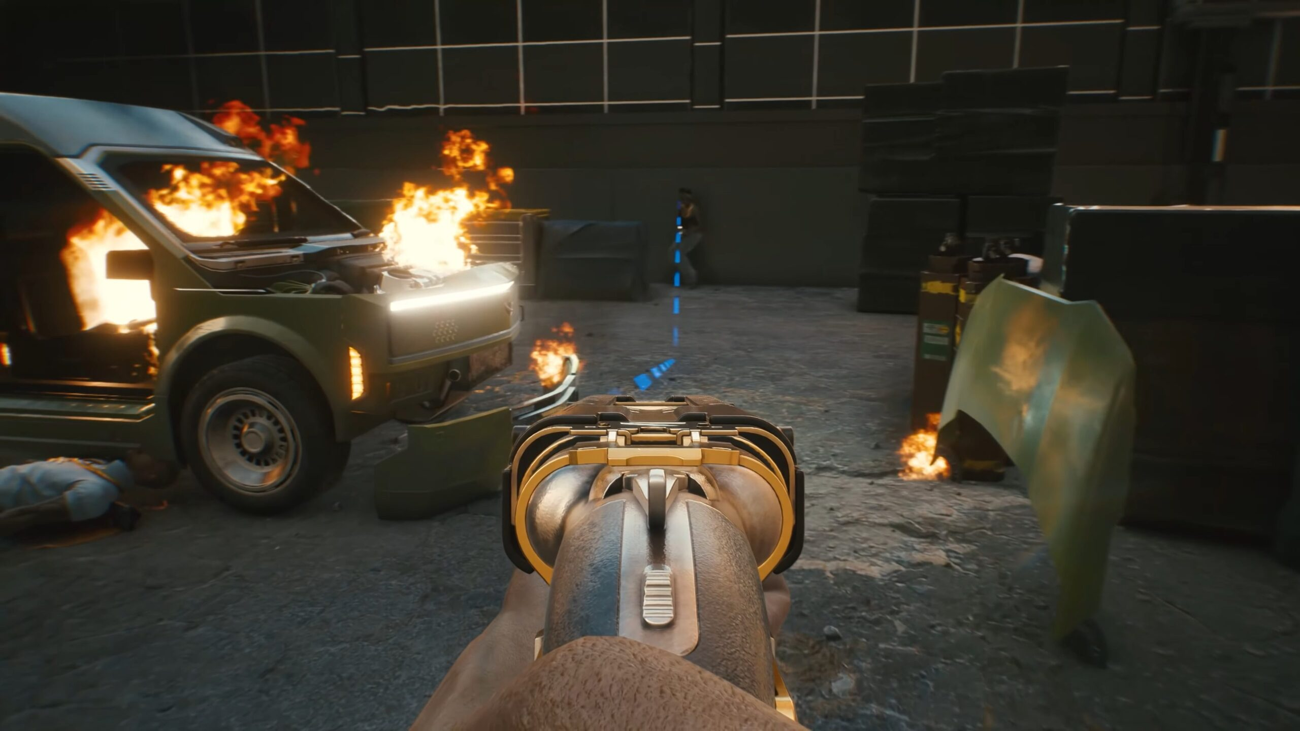 Cyberpunk 2077 Power Weapons Guns Richochet Bullets