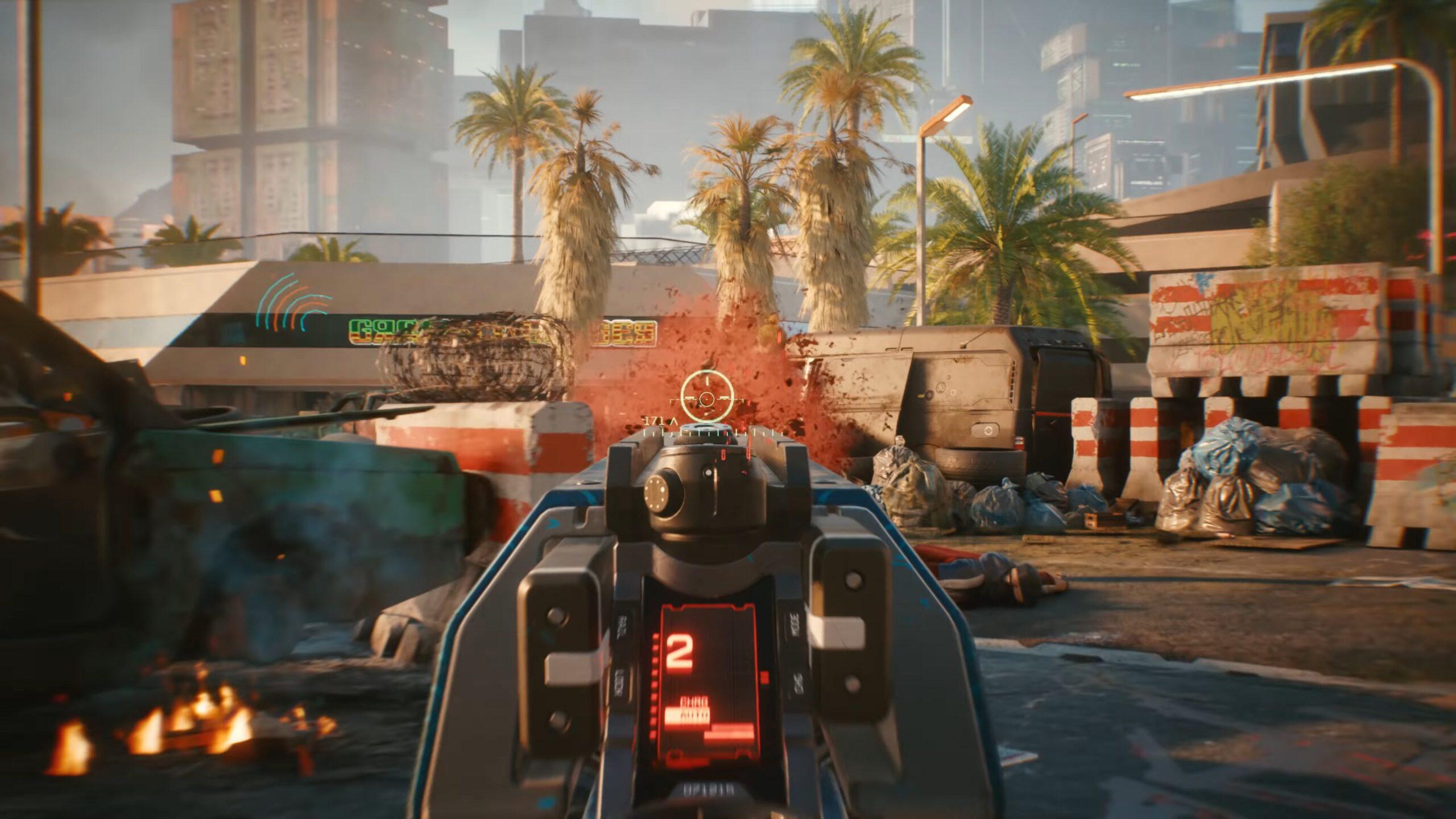 Cyberpunk 2077 Ranged Guns Satisfying Impact