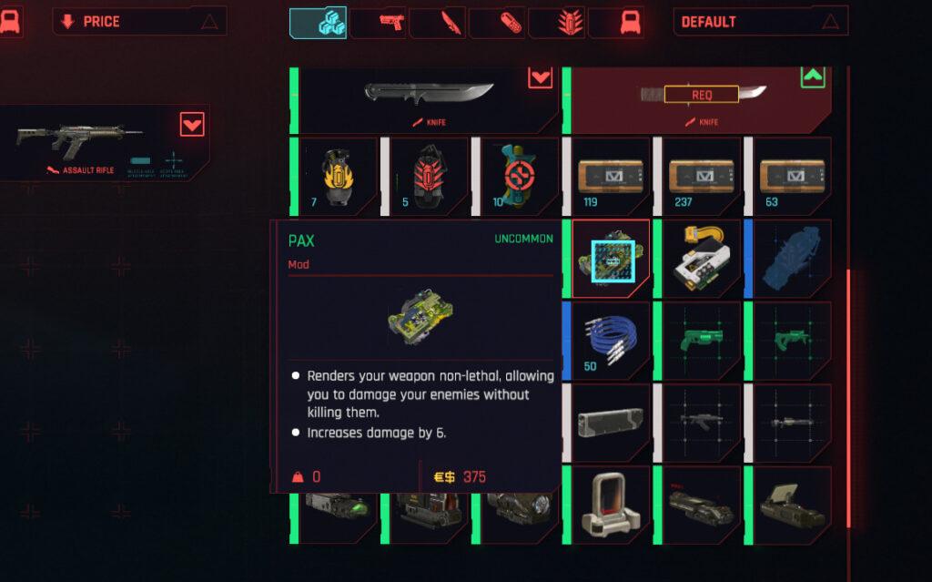 Cyberpunk 2077 Ranged Weapons General Mods