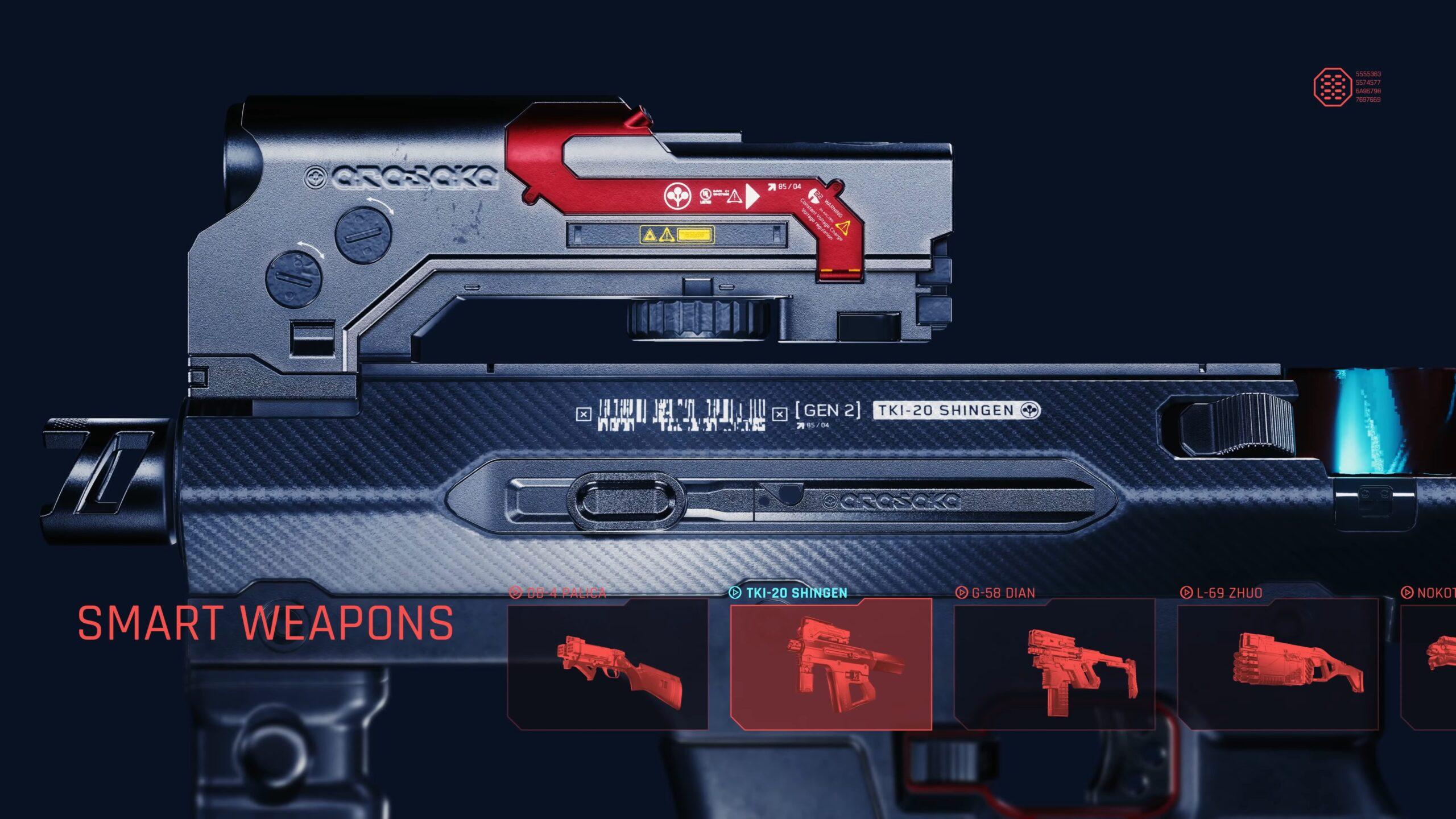Cyberpunk 2077 Smart Weapons