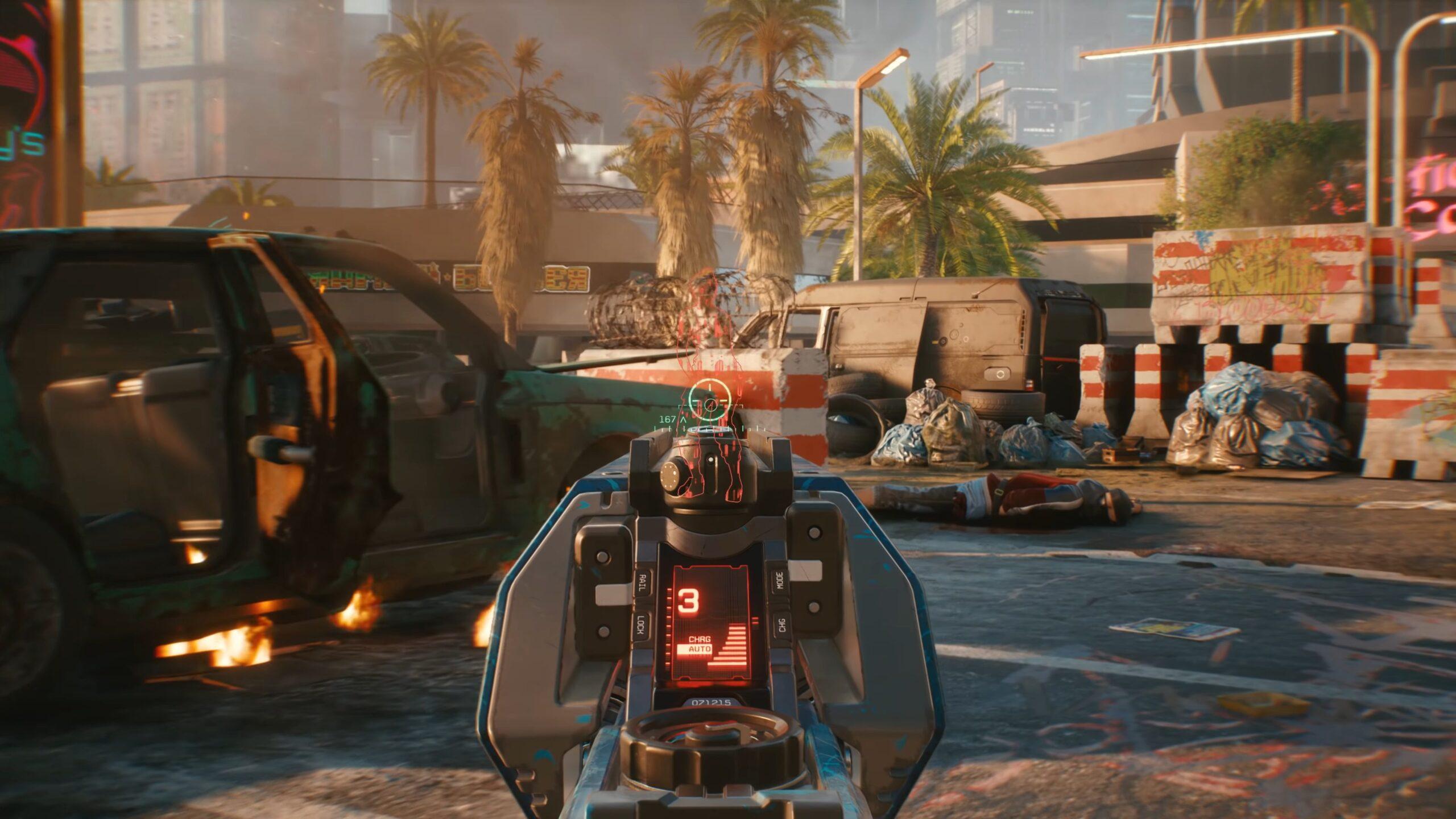 Cyberpunk 2077 Tech Weapons Guns Bursting Through Cover