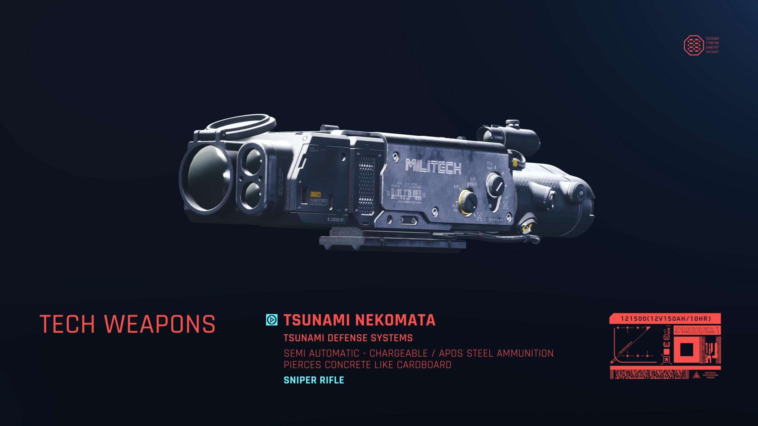 Cyberpunk 2077 Tsunami Nekomata Scope Weapon Attachment