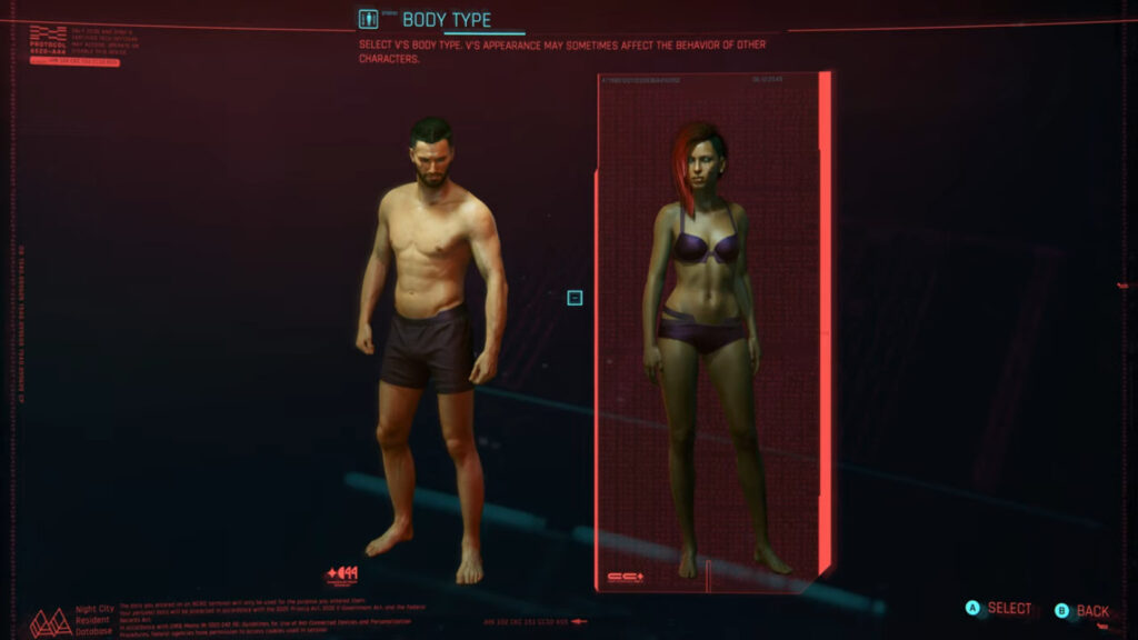 Cyberpunk 2077 V Body Type Appearance Npc Behavior