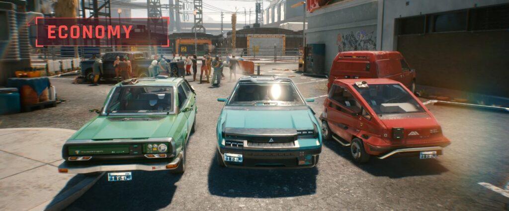 Cyberpunk 2077 Vehicles Guide Economy Tier