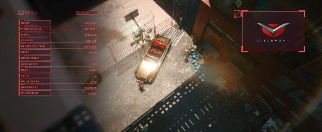 Cyberpunk 2077 Vehicles Guide Executive Tier Alvarado Villefort