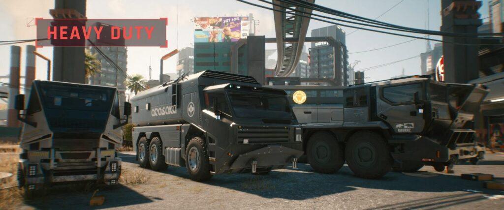 Cyberpunk 2077 Vehicles Guide Heavy Duty Tier
