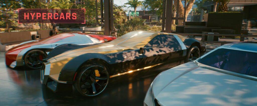 Cyberpunk 2077 Vehicles Guide Hypercars Top Tier