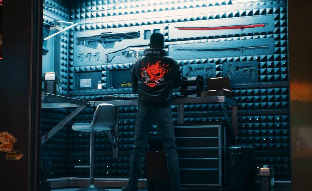 Cyberpunk 2077 V's Weapon Vault Guns