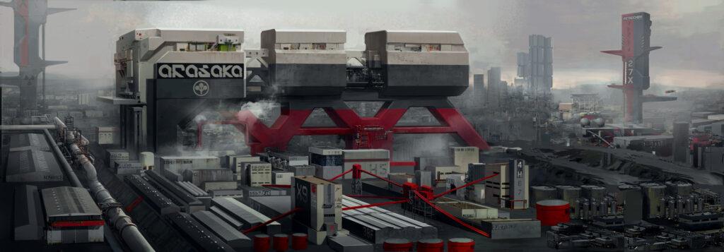 Cyberpunk 2077 Watson Arasaka Waterfront