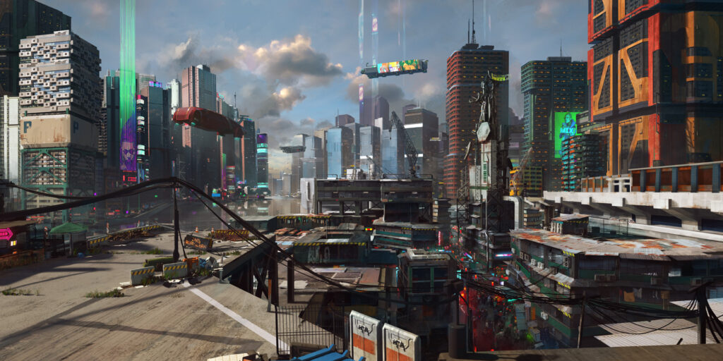Cyberpunk 2077 Watson Guide Exterior View