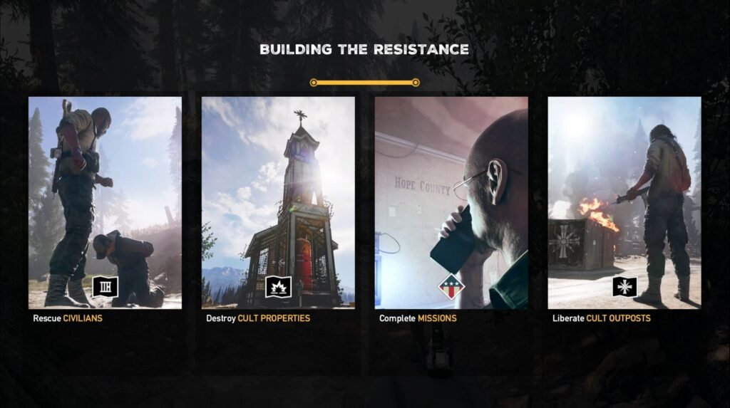 Far Cry 5 A Glimmer Of Hope Build The Resistance
