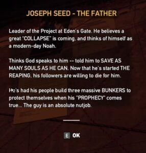 Far Cry 5 Dutchs Map Joseph Seed