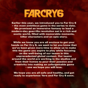Far Cry 6 Release Date Postponed