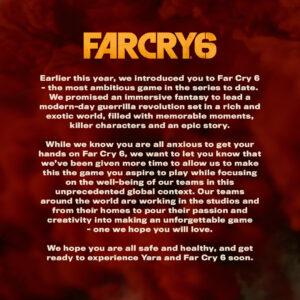 Far Cry 6 Release Date Postponed