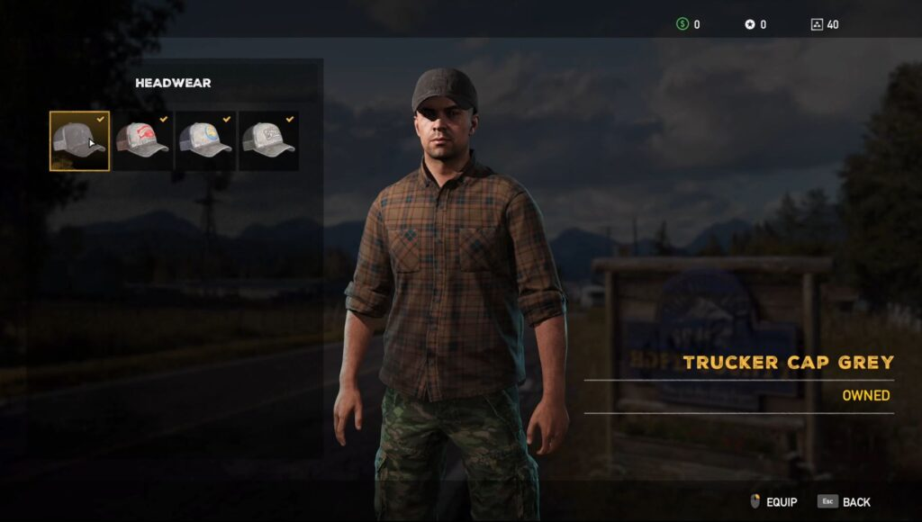 Fary Cry 5 Character Customization Hats
