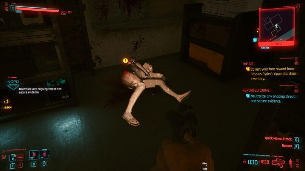 Manzanita Street Reported Crime Welcome to Night City Cyberpunk 2077