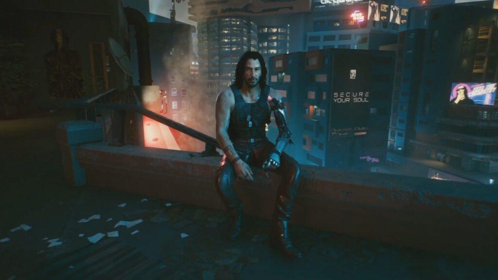 On Balcony with Johnny Secret Ending Cyberpunk 2077