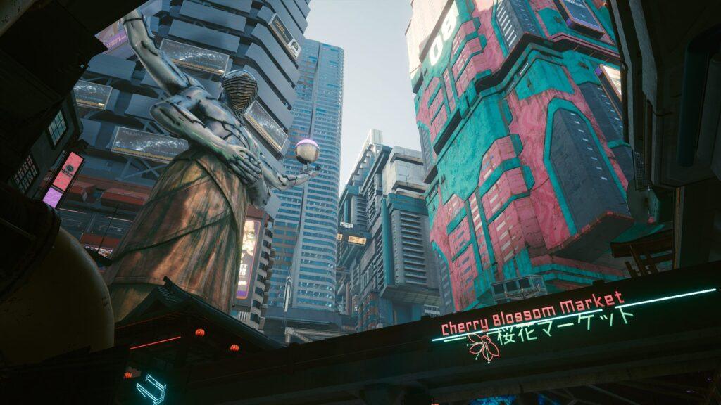 Cyberpunk 2077 hotfix 1.05 cherry blossom market
