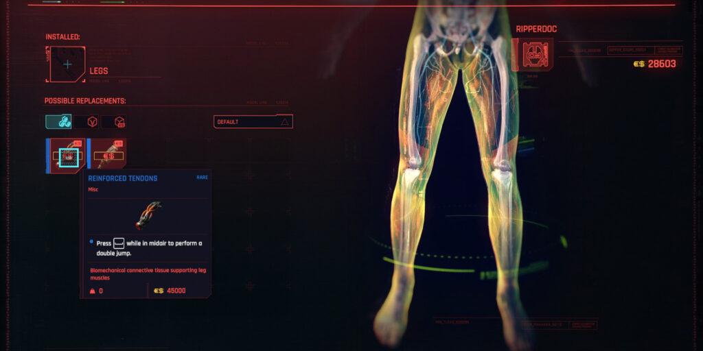 Cyberpunk 2077 Cyberware Guide Legs
