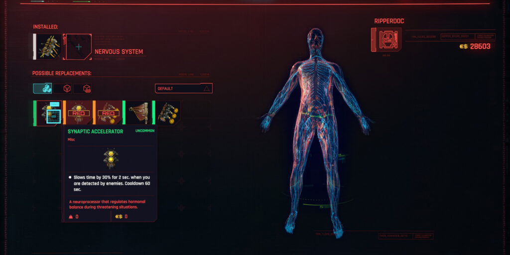 Cyberpunk 2077 Cyberware Guide Nervous System
